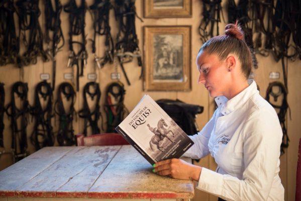 Carli with book